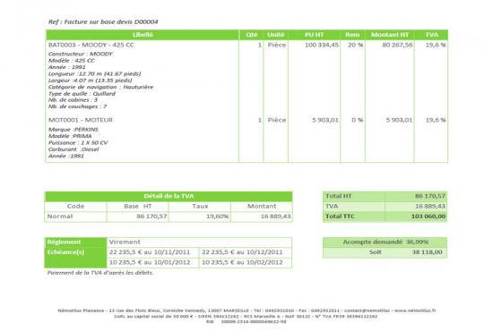 Facturation rapide antoine ghigo expert comptable cannes for Devis entretien espace vert